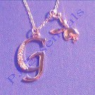 Playboy Platinum Plated Bunny Initial Pendant - Letter G - RRP £25