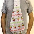 Novelty Jumbo Christmas Tie - Santa Claus Merry Christmas