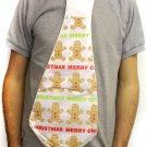 Novelty Jumbo Christmas Tie - GingerBread Man Merry Christmas