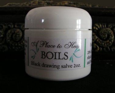 BOILS  (Black drawing salve) 2oz