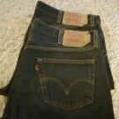 Levi's 501 42x30 Button Fly Jeans - Black