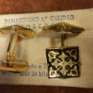 SOLD - Vintage Cufflinks Damasquino Toledo - Damascene - SOLD