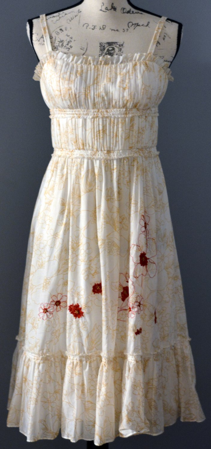 Max and Cleo Ivory dress Floral pattern