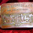Vintage Levi's Strauss & Co. Metal Belt Buckle