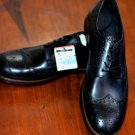 Zara Black Leather Wingtips