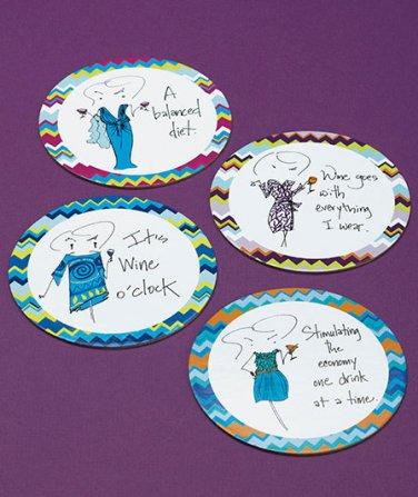 Humor 16-Pc. Gift-Boxed Coaster Set