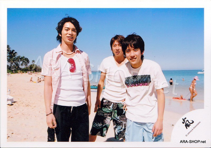 SHOP PHOTO - ARASHI - 2006 in Hawaii (Aiba, Nino, Jun) #255