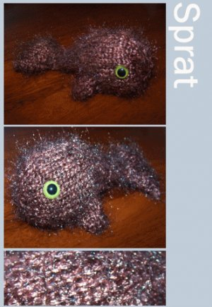 Sprat the Knitted Whale + Cellophane Gift Wrap