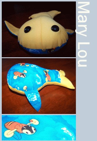 Mary Lou the Happy Whale + Cellophane Gift Wrap