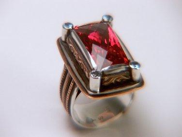 Natural Topaz Silver Ring