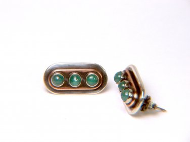 Colombian Natural Emeralds Earrings