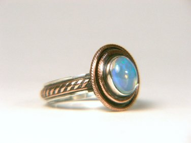 Genuine Opal Sterling Ring
