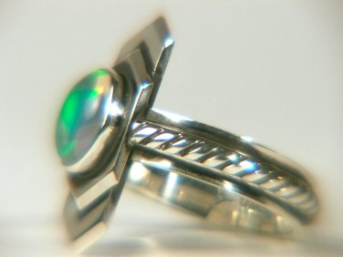 Natural Welo Opal Sterling ring