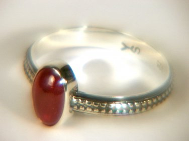 Natural Ruby Sterling ring