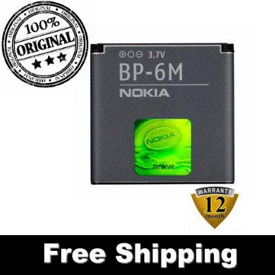 Original Nokia 6280 6288 9300 9300i N73 N77 N93 BP6M BP-6M Battery