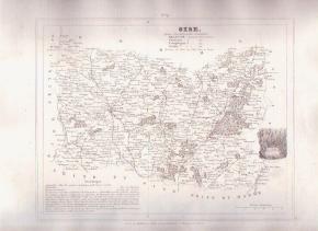 OISE BEAUVAIS FRANCE 1835 Antique Atlas Map Cartography