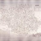 GERS AUCH FRANCE 1835 Antique Atlas Map Cartography