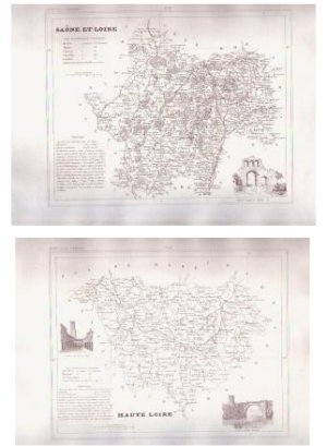 1835 SAONE LOIRE France Antique Atlas Maps Cartography
