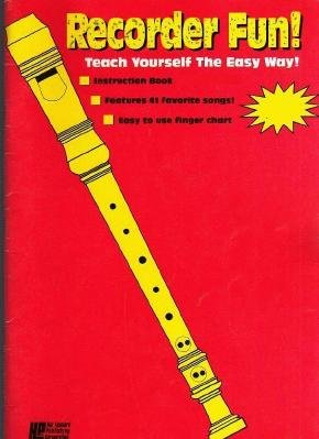 RECORDER FUN Teach Yourself Music Instruction Book