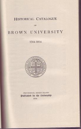 1914 BROWN UNIVERSITY Prov RI Catalog Historical Book