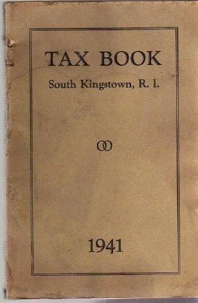 1941 SOUTH KINGSTOWN RI TAX BOOK Directory genealogy