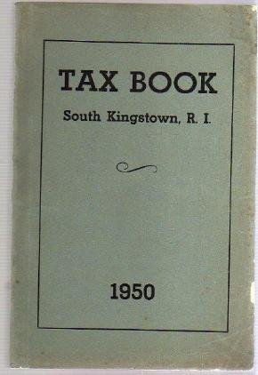 1950 SOUTH KINGSTOWN RI TAX BOOK Directory genealogy
