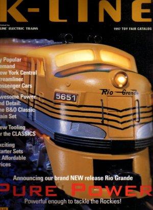 K-LINE 1997 Toy Fair Edition Electric Toy RR Model Trains Catalog