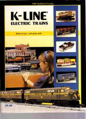 1996 K-LINE Traditional Electric Toy RR Model Trains Catalog