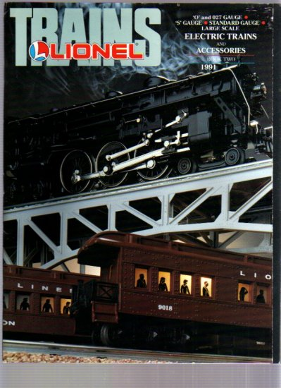 1991 LIONEL O 027 S Standard Gauge Electric Toy RR Model Trains Catalog