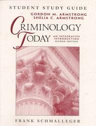 Criminology Today 2nd Ed Schmalleger Teachers Instructors Guide and Study Guide and Textbook