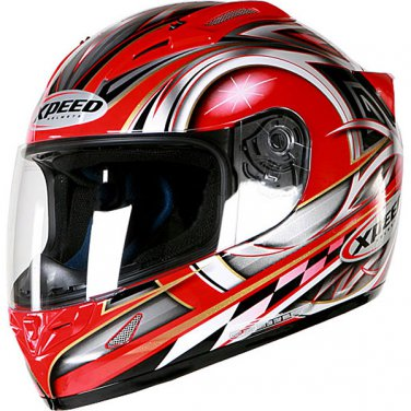 New Xpeed XF705 Spider Full Face Helmet -Large/Red