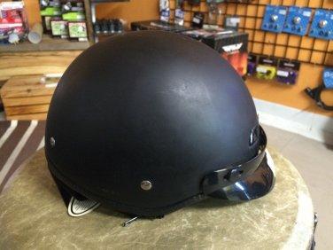 Biker/Vintage Style Fulmer AF-50 - Size S - Helmet in Matte Black