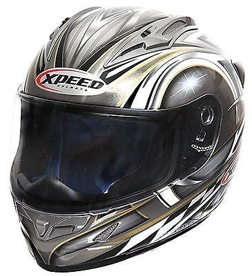 Xpeed XF705 Spider Full Face Helmet - Medium/Silver