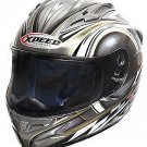 Xpeed XF705 Spider Full Face Helmet - Small/Silver