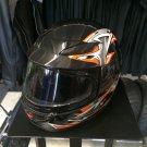 Childs Novelty Full Helmet - Black/Orange Large
