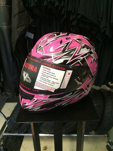 Vega Altura Full Face Helmet - S - Pink