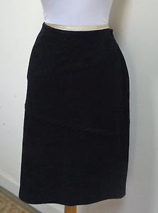 EUC -SONOMA JEANS CO. Black 100% Suede Leather Pencil Skirt - Size 8 - Stunning!