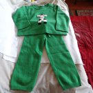 NWOT -CASHMIRACLES Boy or Girl's Green 100% Cashmere Pants & Sweater Set-Size 2T