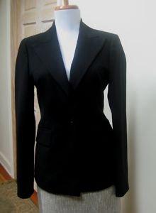 EUC - SISLEY Black One Button Lightweight Polyester Blend Jacket - Size 38