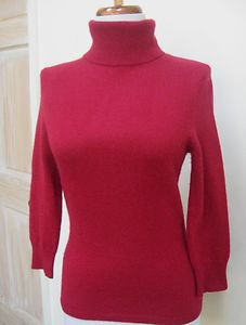 GUC - EXPRESS DESIGN STUDIO Deep Red 100% Cashmere Turtleneck Sweater - Size S