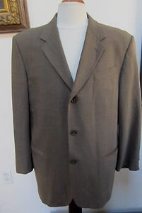 EUC - DONNA KARAN SIGNATURE, Made in Italy, Brown 100% Wool Jacket - Size 42R