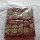 NIP - 10 Skeins *ICE* Orange/Black/Pink 100% 6-Ply Cashmere Yarn 30 g/Skein
