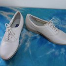 EUC -EASY SPIRIT *JP MOTION* Beige Leather Lace-Up Loafers/Shoes-Size 8 1/2 B/2A