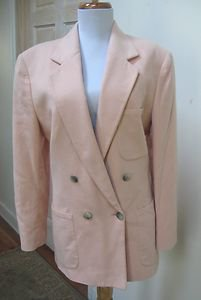 NWOT - BARRIE PACE Shell Pink 100% Cashmere Double Breasted Jacket - Size 8