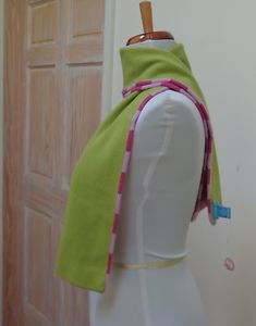"""NWOT - WHITE + WARREN DOUBLE SIDED GREEN/PINK 100% CASHMERE SCARF 43""""x  7"""""""