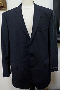 NWT - DKNY ESSENTIALS Black 100% Wool 3-Button Jacket Blazer Size 46 L-Fabulous!
