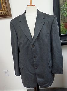 EUC- TODAY'S MAN Man's Charcoal 90% Cashmere & 10% Wool 3-Button Jacket-Size 46R