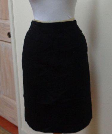 EUC - Stunning ZION Black Wool/Cashmere Blend Pencil Skirt - Size 8