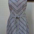 NWOT - WHITE HOUSE/BLACK MARKET Black/White Cotton Blend Strapless Dress- Size 8
