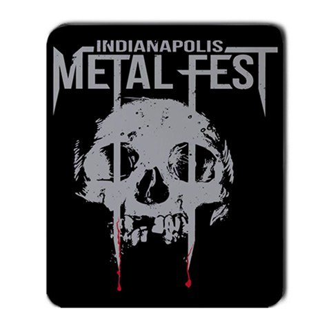 Indianapolis Metal Fest Large Mousepad